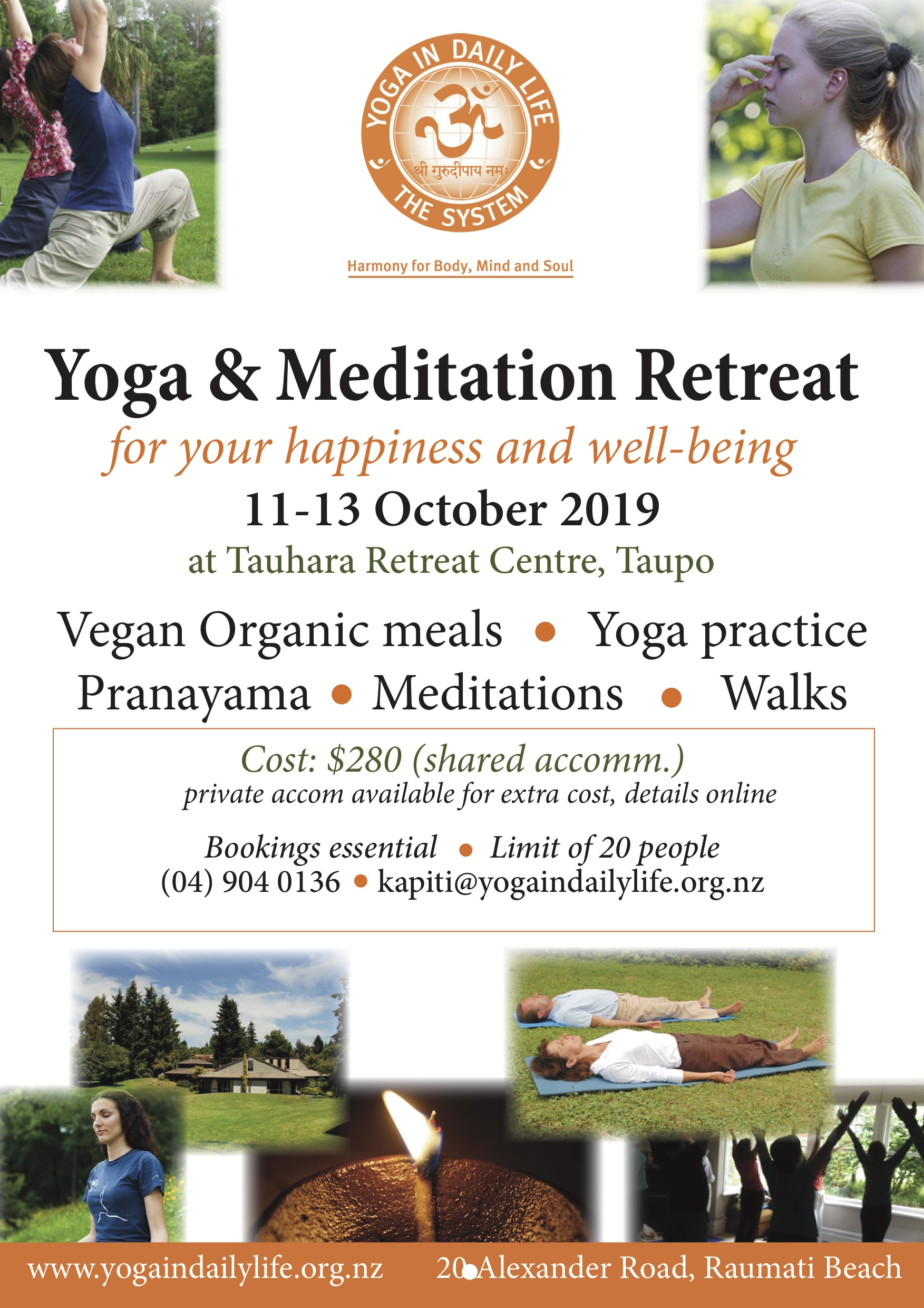 Retreat Taupo oct 2019